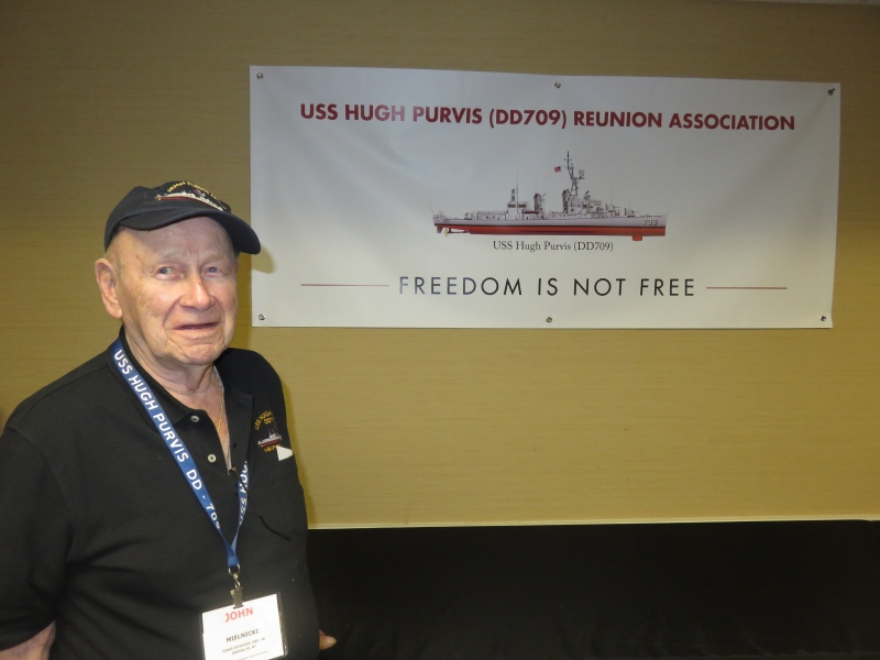 John (Plank-Owner) Displays the new HPRA Banner