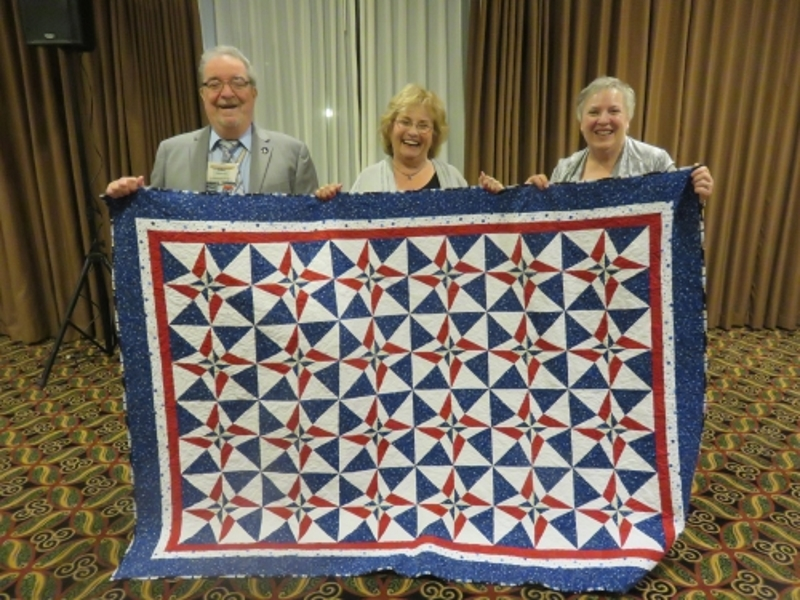 Quilt winners - Sal and Mary Ann with Pat (left)